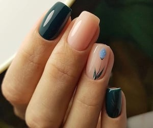 blue, green, and nail art image