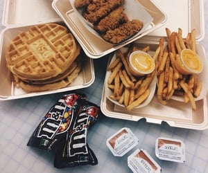 French Fries, m&ms, and maple syrup image