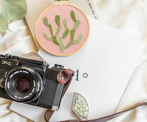 broderie, handmade, and camera image