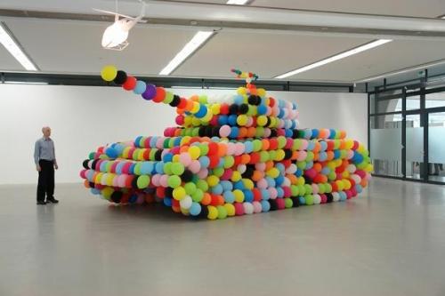 balloons and tank image
