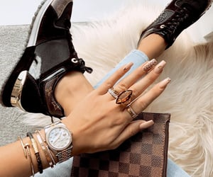 jewelry, Louis Vuitton, and nails image