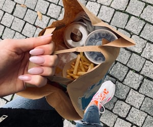 food, fries, and girl image