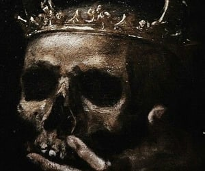 skull, dark, and crown image