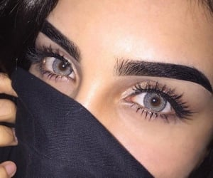 eyebrows, eyelashes, and makeup image