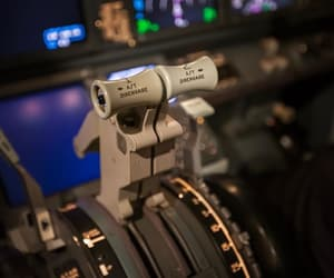 airplane, industry, and lens image