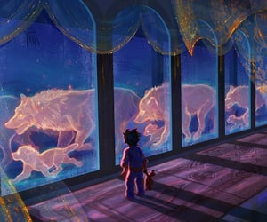 art, celestial, and spirits image