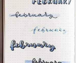 lettering, bujo, and bullet journal image