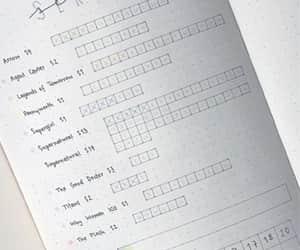 bullet journal, bullet journal ideas, and bujo tracker image
