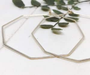 etsy, large hoops, and simple earrings image