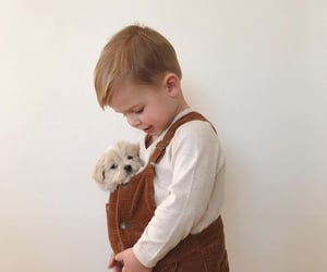 child, cute, and dog image
