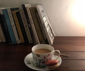 ambience, books, and cafe image