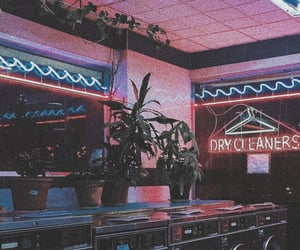 aesthetic, neon, and plants image