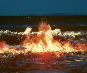 fire, flames, and water image