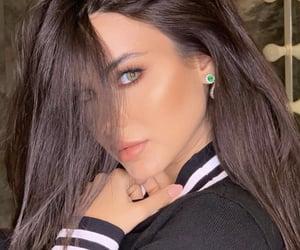 arabs, arab girls, and brunette beauty image