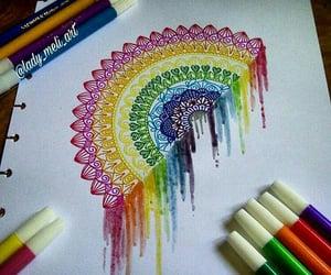 art, rainbow, and flow image