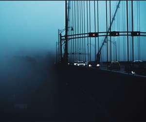 aesthetic, blue, and bridge image