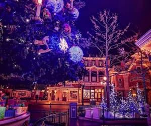 christmas, park, and disneyland image
