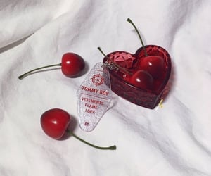 red, aesthetic, and cherry image