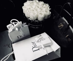 luxury, dior, and flowers image