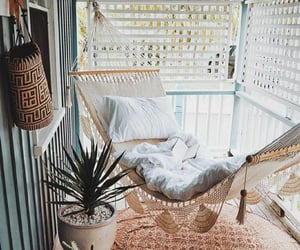 home, decor, and hammock image