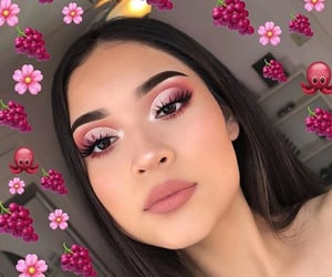 grapes, makeup, and peach image