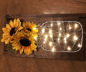 flores, luces, and girasoles image