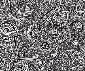 background, black&white, and mandala image