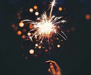 fire, sparkle, and sparkles image