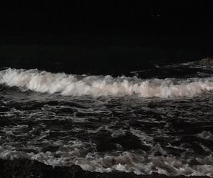 dark, sea, and black image