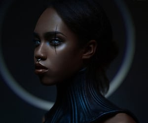 beauty, dark, and fantasy image