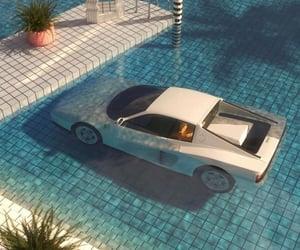 car, pool, and vintage image