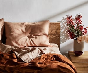 autumn, orange, and bed image