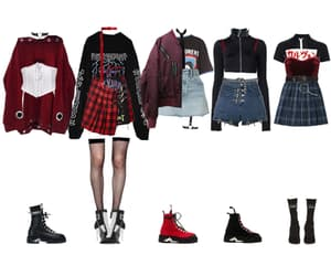 fashion, kpop, and group outfits image