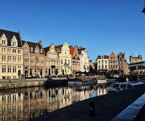 belgium, Ghent, and water image