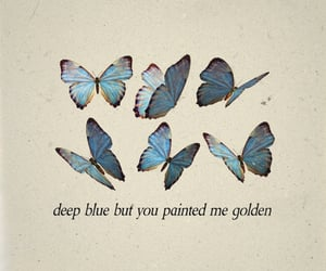 butterfly, quotes, and blue image