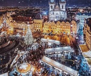 winter, christmas, and prague image