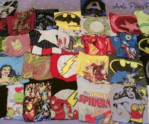 shirt, comic, and batman image