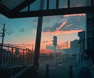 art, sunset, and anime image
