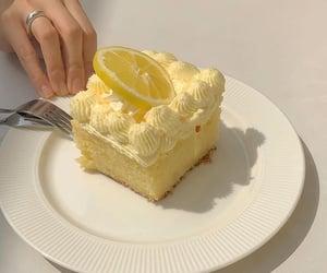 aesthetic, yellow, and cake image