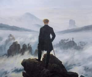 art, painting, and caspar david friedrich image