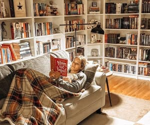 books, cozy, and fashion image