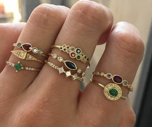 jewelry, rings, and fashion image