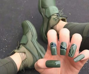 nails, green, and puma image