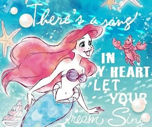 arial, magical, and under the sea image