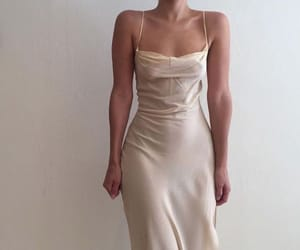 dress, white, and silk image