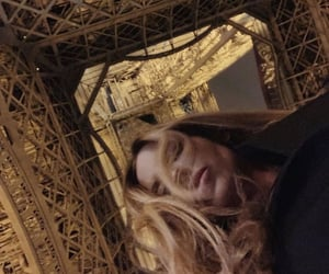 paris, eiffel tower, and girl image