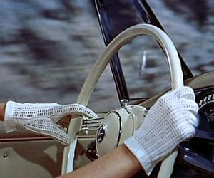 vintage, car, and gloves image