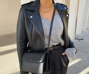 leather jacket black, goal goals life, and sac bag bags image