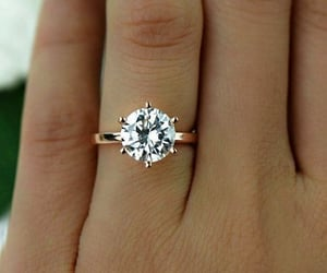 bridal, engagement ring, and bride image