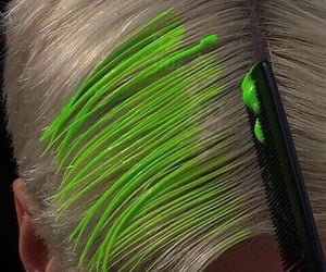 goth, cyber, and green image